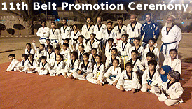 Prince Taekwondo Academy 11th belt promotoin ceremony north nazimabad campus Karachi