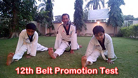 Prince Taekwondo Academy 12th Belt Promotion Test conducted by Master Fasih Uddin