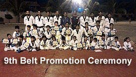 Prince Taekwondo Academy 9th Belt Promotion Test by Sir Fasih Sir Saqib