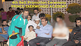 Taekwondo 4th Belt Promotion Test Prince Taekwondo Academy, summercamp 2014, self-defense nunchaku taekwondo yongmoodo hapkido for boys girls