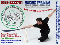 Sword Training, Wushu Broadsword training, Straight Sword, barehand self defense, taulo sword kata, prince martial arts master suqrat farooqi, sunday classes