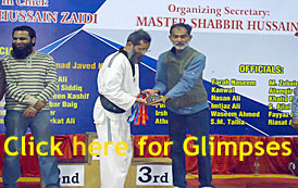Prince Taekwondo Academy receiving Medals in 20th Quaid-e-Azam Open Inter Schools & Inter Clubs Taekwondo Championship 2014 at Sindh Sports Board Karachi
