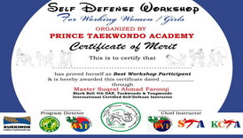 Women Empowerment Self Defense Workshop conducted by Master Suqrat Farooqi
